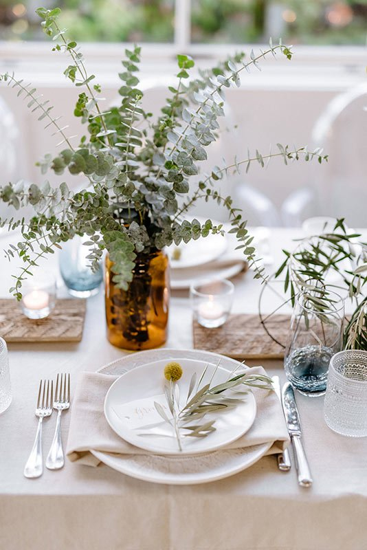 Boho Reception Table Setup