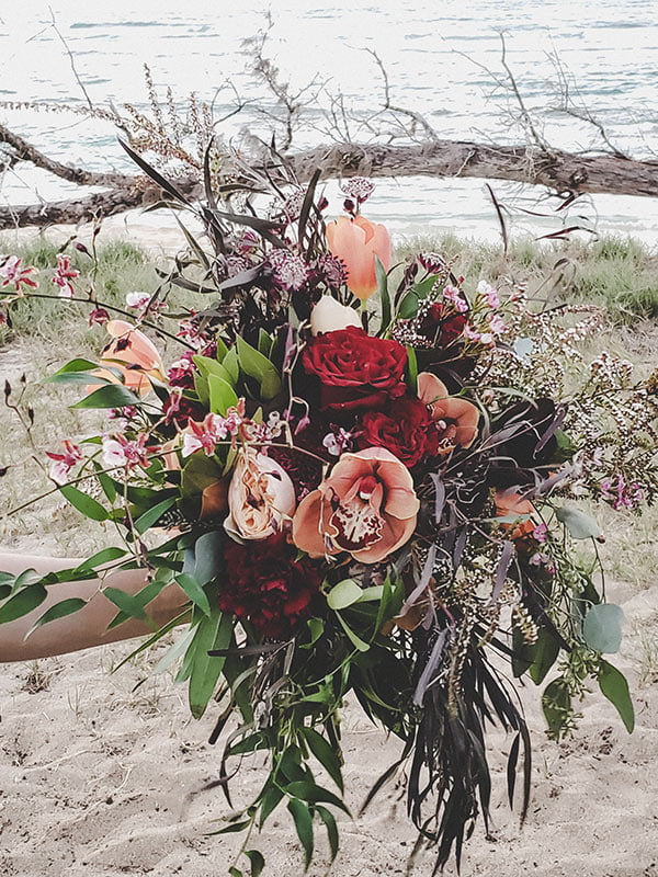 Bouquet Red Boho Style