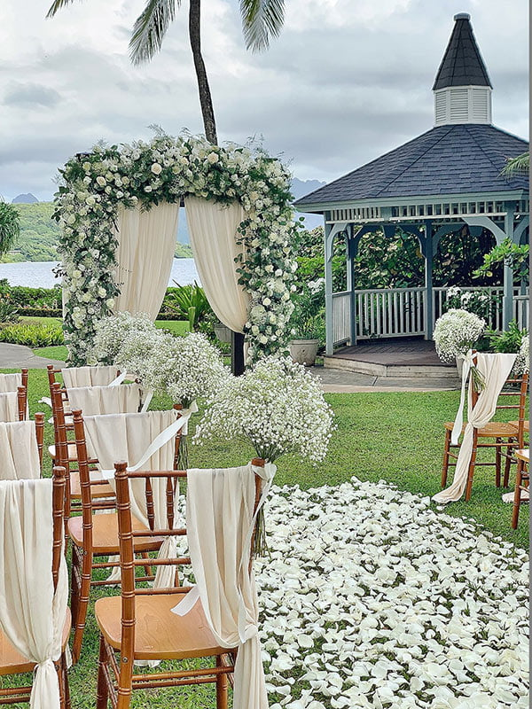 Dreamy wedding ceremony setup