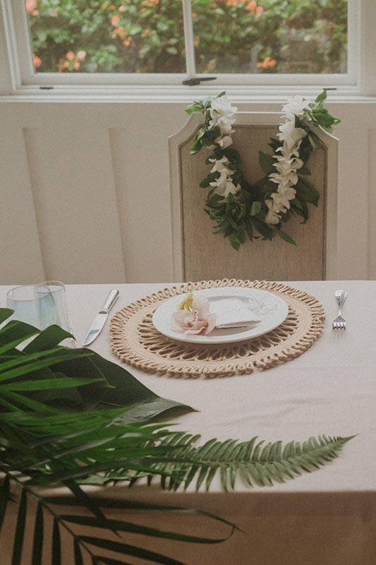 Sweetheart Table Tropical Style