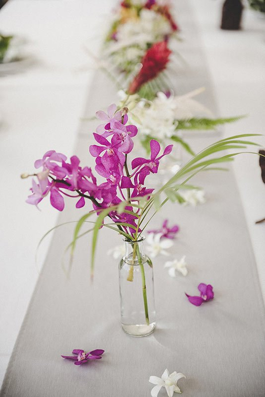 Tropical Orchid Table Decor