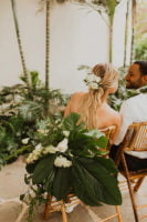 Tropical Wedding Couples Bamboo