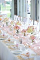 Pastel color theme table decor
