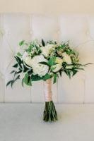 Bouquet White Green Tropical
